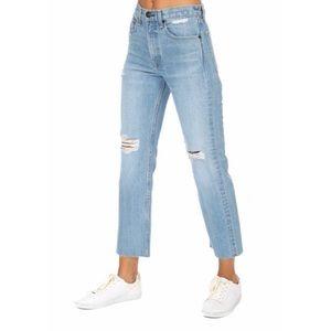Rag & Bone high-waist straight distressed jeans